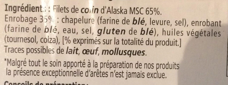 Filets Colin d'alaska Panés - Ingrédients
