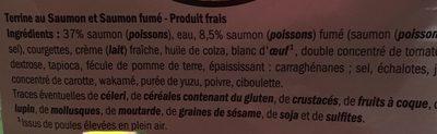 Terrine au saumon et saumon fumé - Ingrediënten - fr