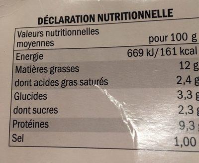Terrine au saumon et saumon fumé - Voedingswaarden - fr