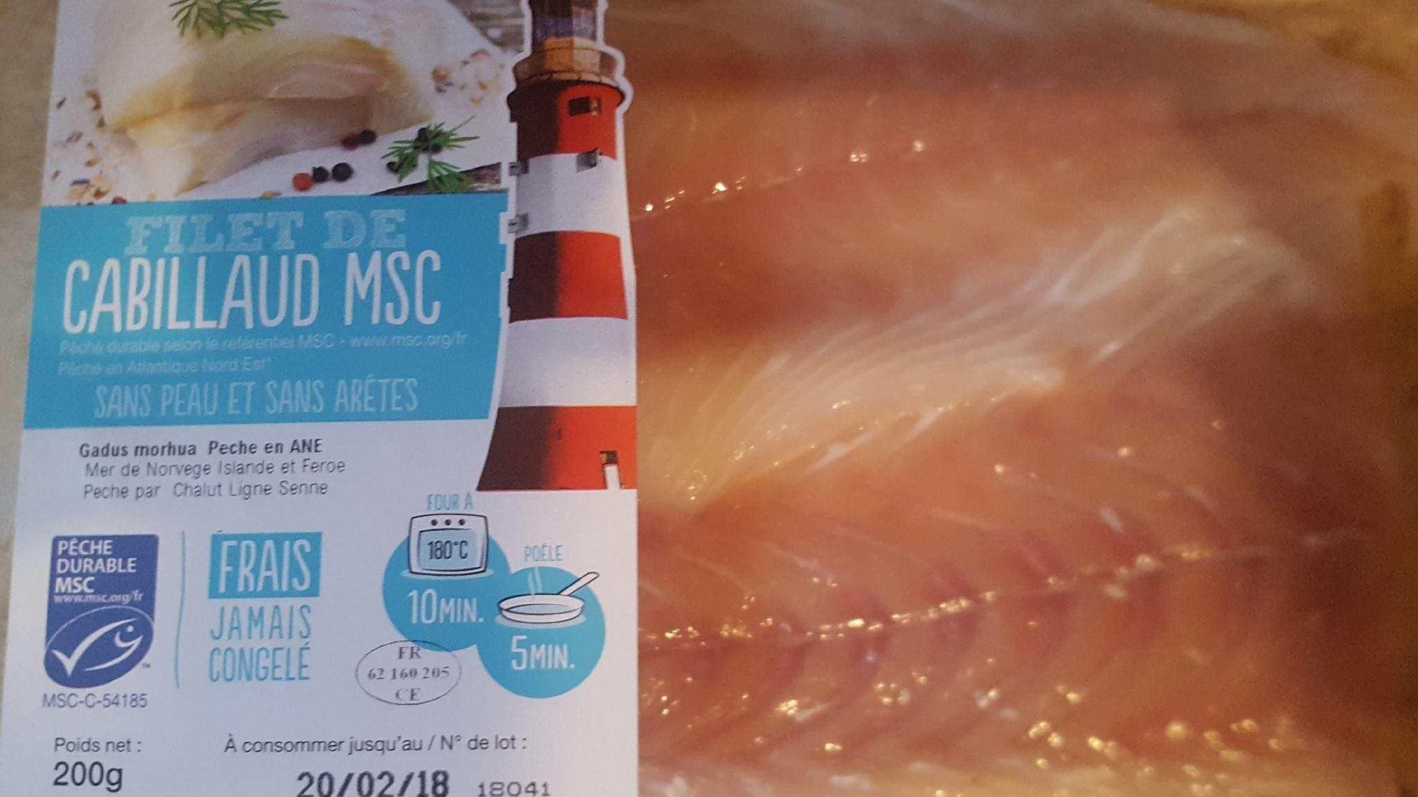 Filet de Cabillaud MSC - Produit