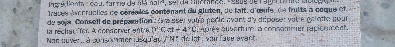 Galettes blé noir Bio - Ingredienti - fr