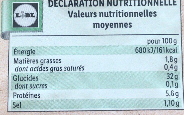 Galettes blé noir Bio - Valori nutrizionali - fr