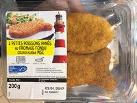 2 petits poissons panés au fromage fondu Colin d'Alaska MSC - Product
