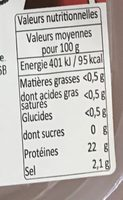 Gambas Entières - Nutrition facts