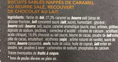 Tartelettes Caramel Chocolat au Lait - Ingredients