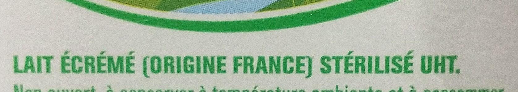 Lait écrémé - Ingrédients - fr