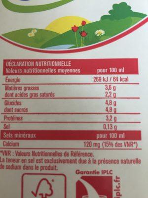Lait entier - Ingrédients - fr