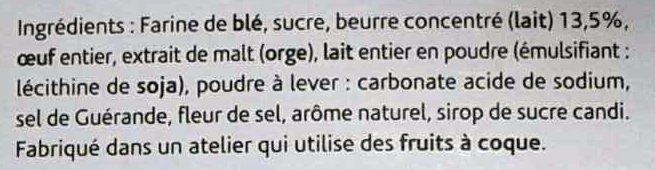 Sablé du Nord Pur Beurre - Ingrediënten
