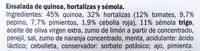 Ensalada Quinoa con hortalizas y sémola - Ingredients