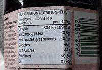 Bio myrtille - Voedingswaarden - fr