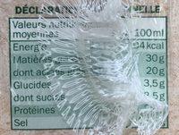 Bio Crème Liquide Entière - Nutrition facts