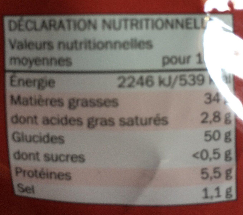 Chips classique - Voedingswaarden - fr