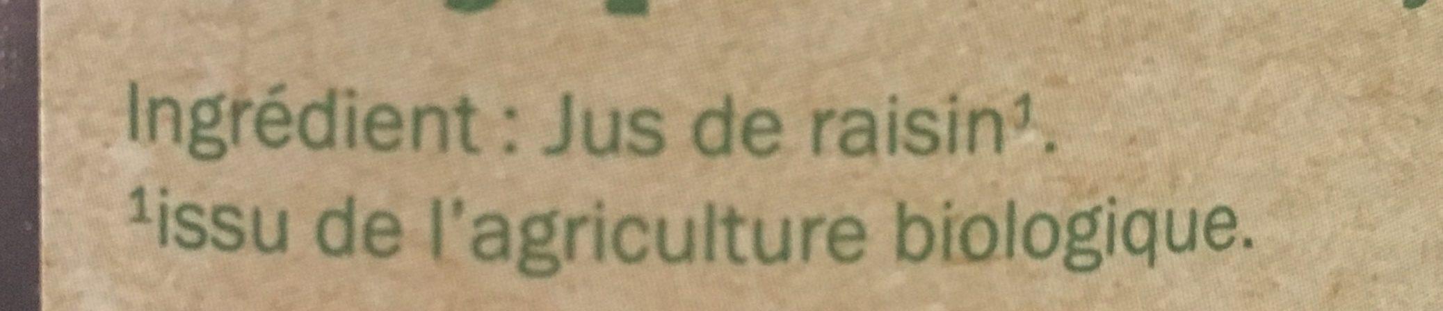 Pur jus de raisin bio - Ingrediënten - fr