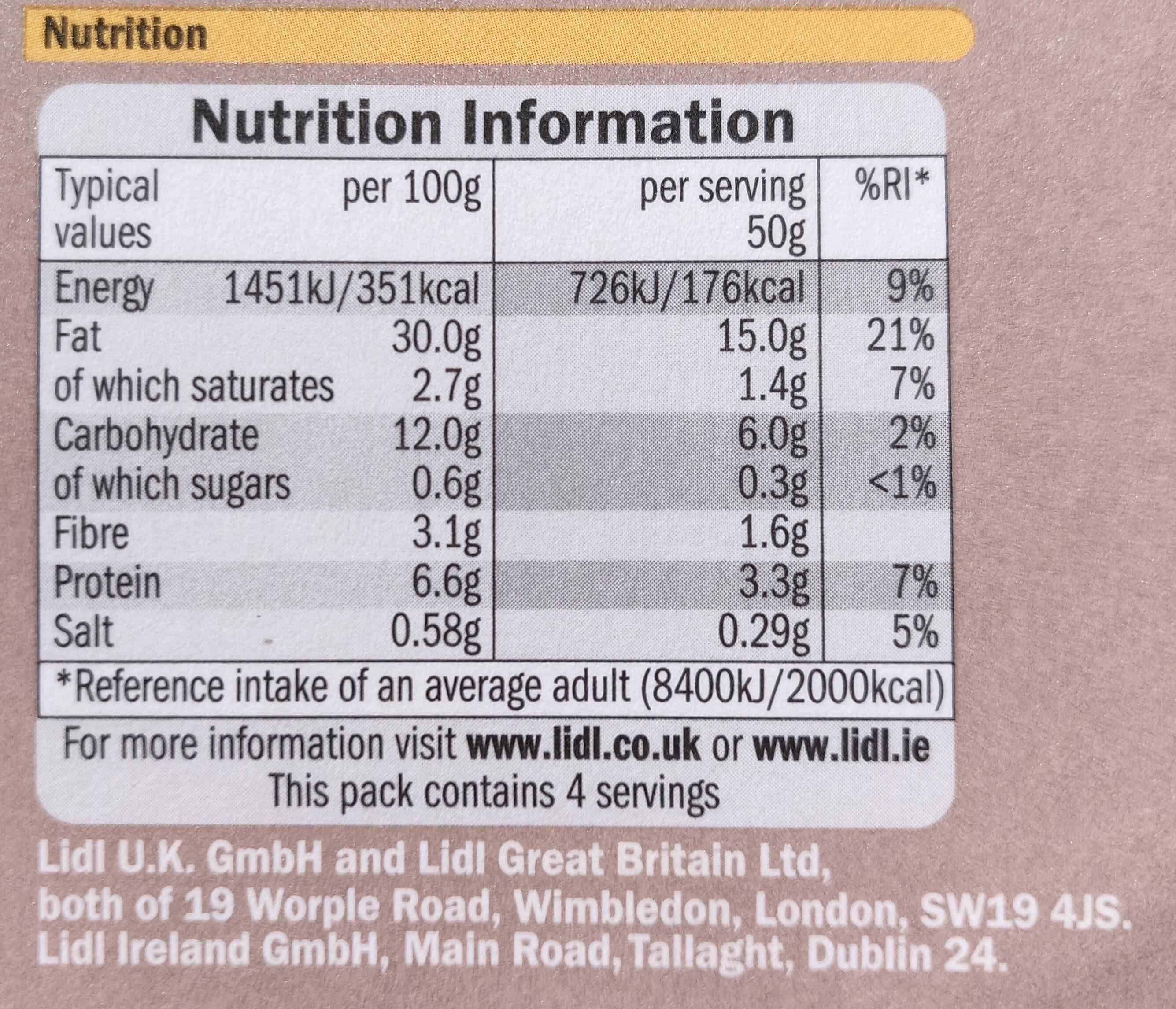 Classic Houmous - Nutrition facts - en