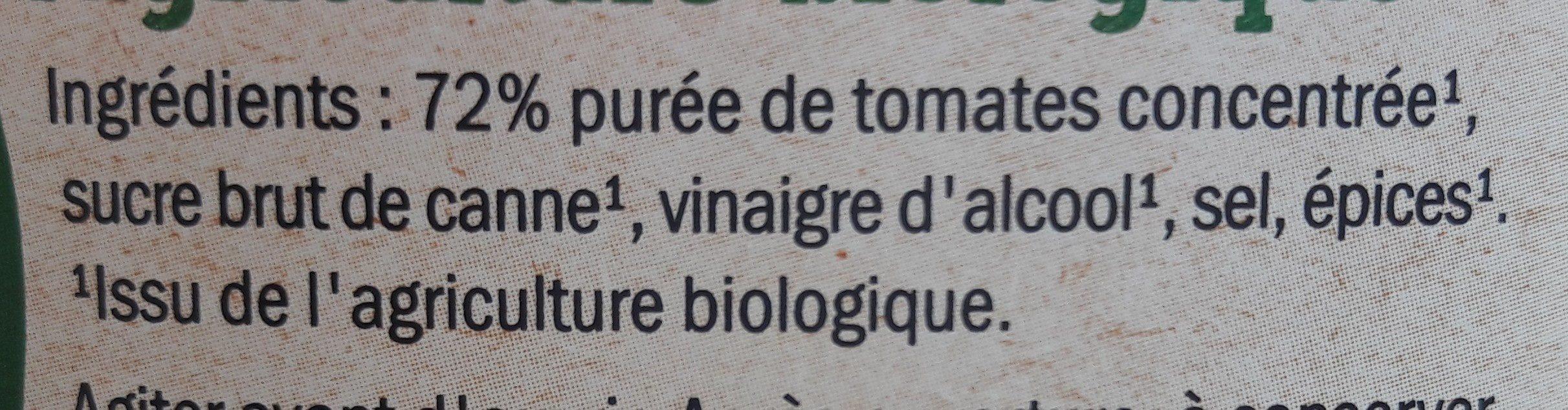Bio Tomato Ketchup - Ingredienti - fr