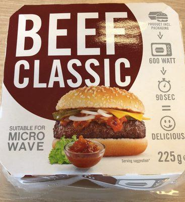 Beef Classic Burger Für Die Mikrowelle - Product - en