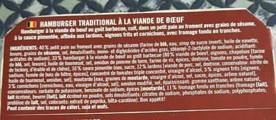 Beef Classic Burger Für Die Mikrowelle - Ingrédients - fr