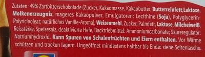 Schoko Sticks - Zutaten - de