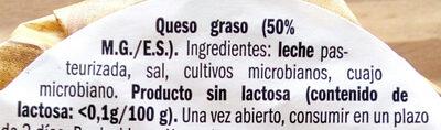 Miniqueso. Suave - Ingredients