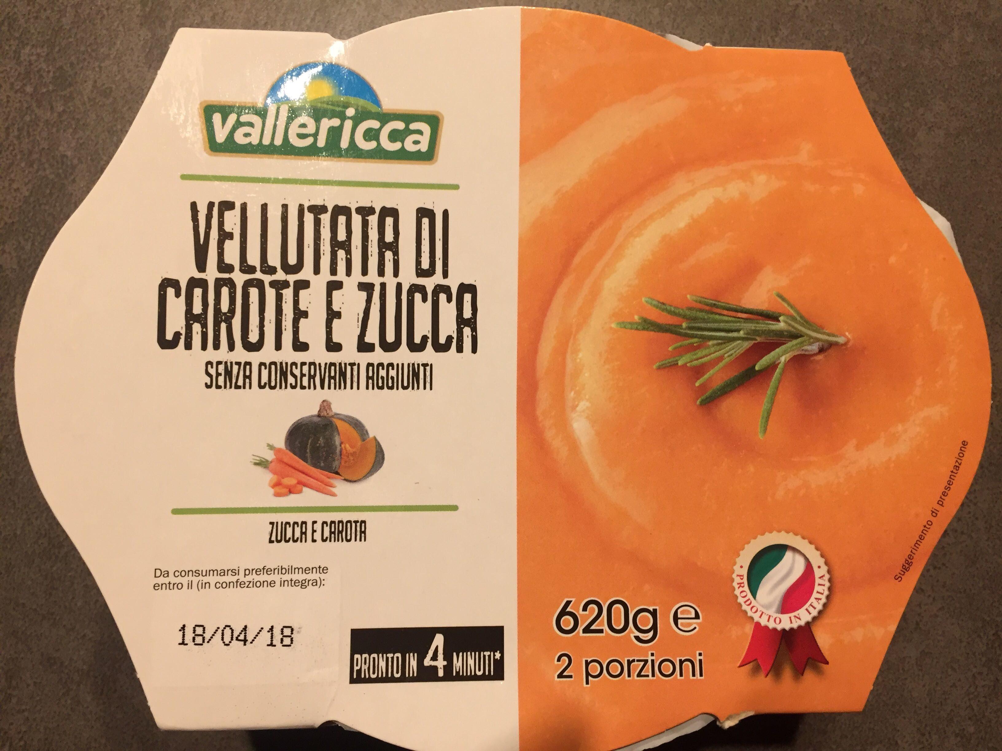 Vellutata di carote e zucca - Prodotto