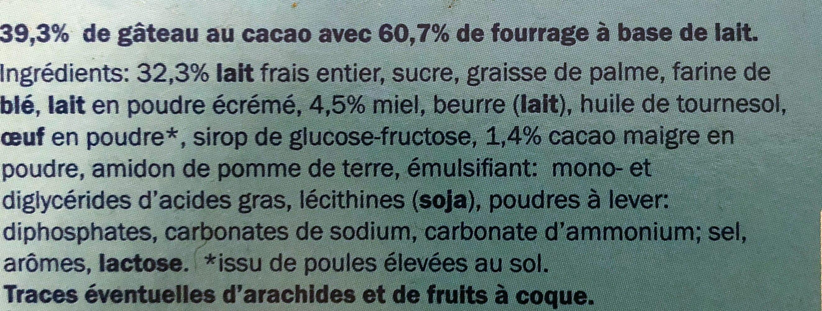 Le Moelleux Lait & Miel - Ingrediënten