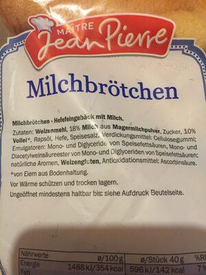 Maitre Jean Pierre Milchbrötchen - Ingrédients - de