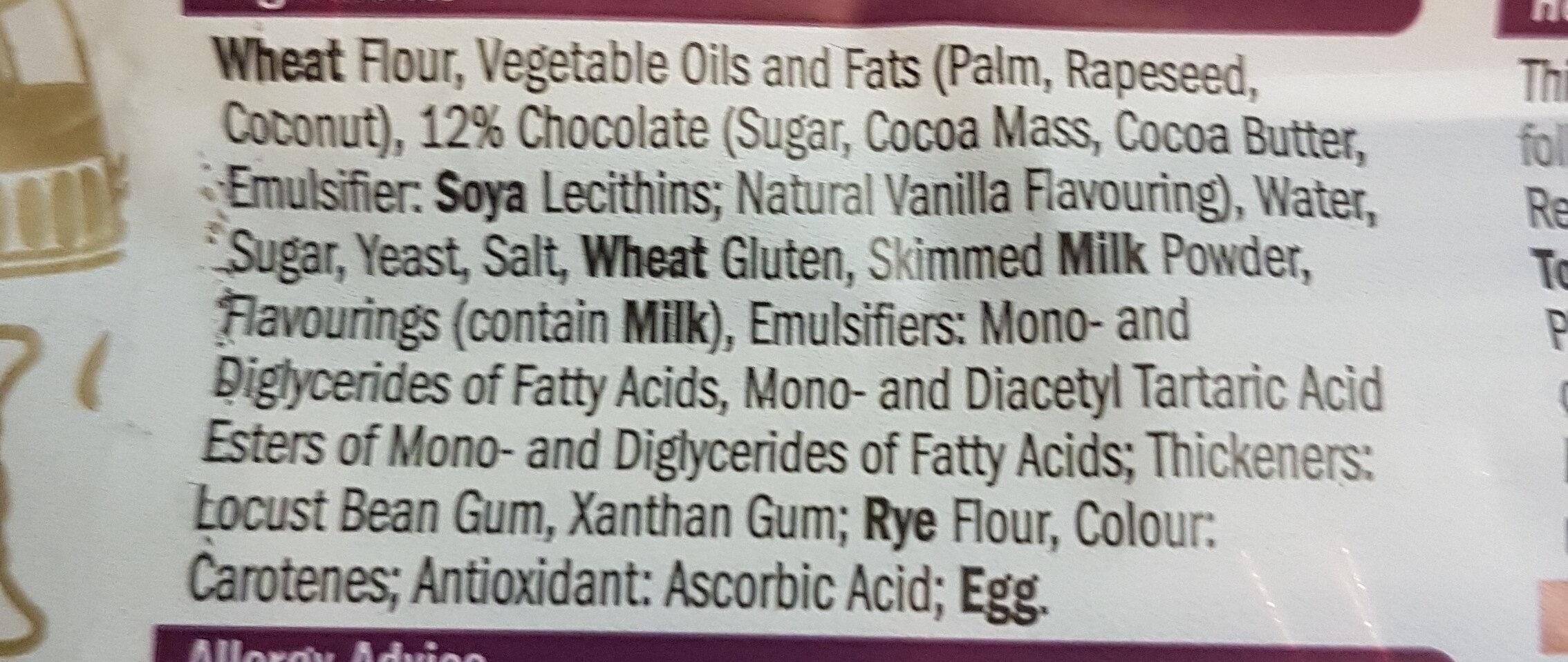 Pains Au Chocolat - Ingredients
