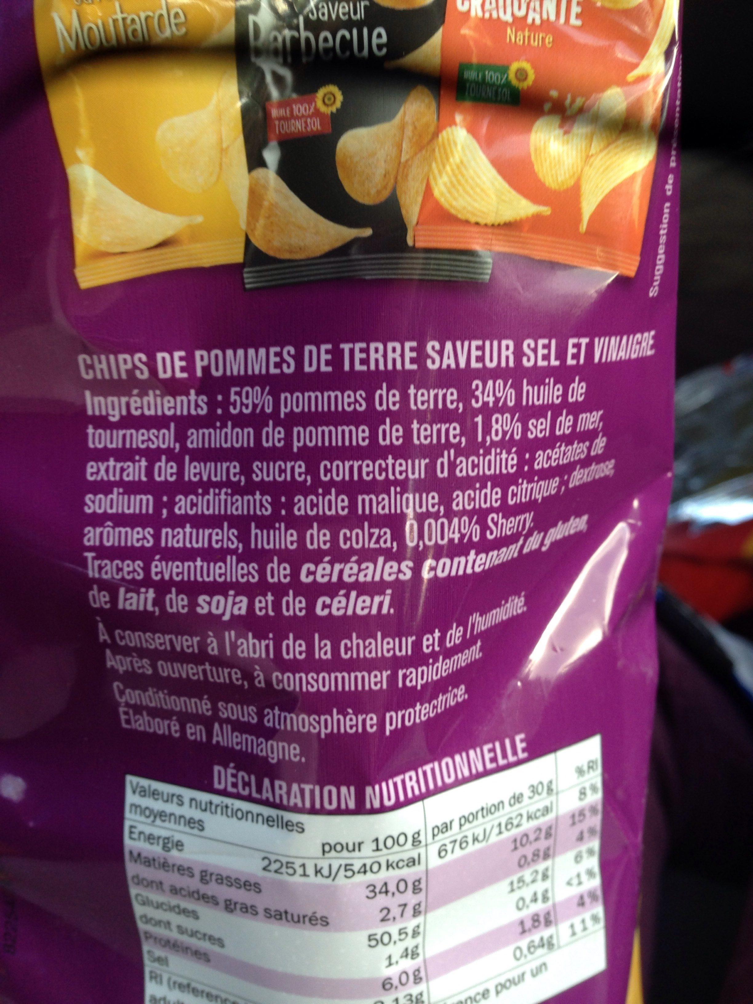 Chips saveur sel et vinaigre - Ingrédients - fr