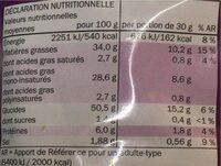 Chips saveur sel et vinaigre - Informations nutritionnelles - fr