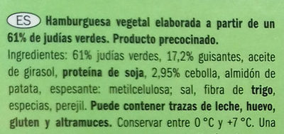 Hamburguesas veganas de judías verdes - Ingredientes