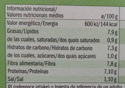 Hamburguer Vegano de Feijão-Verde - Informations nutritionnelles - pt