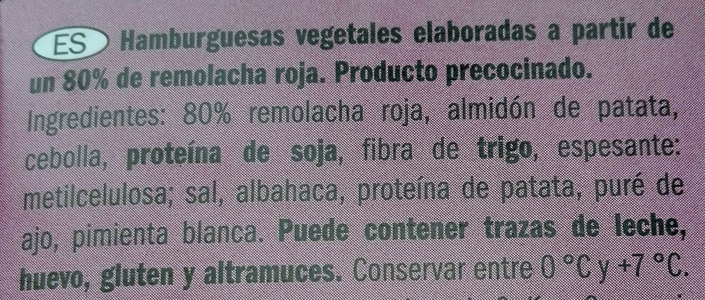 Hamburguesas Veganas de remolacha - Ingrédients