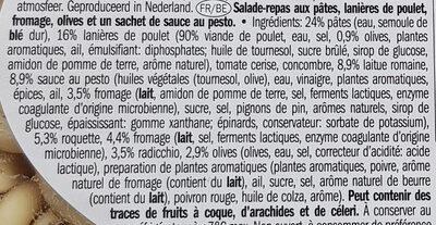 Salade poulet à l'italienne - Ingrédients - fr