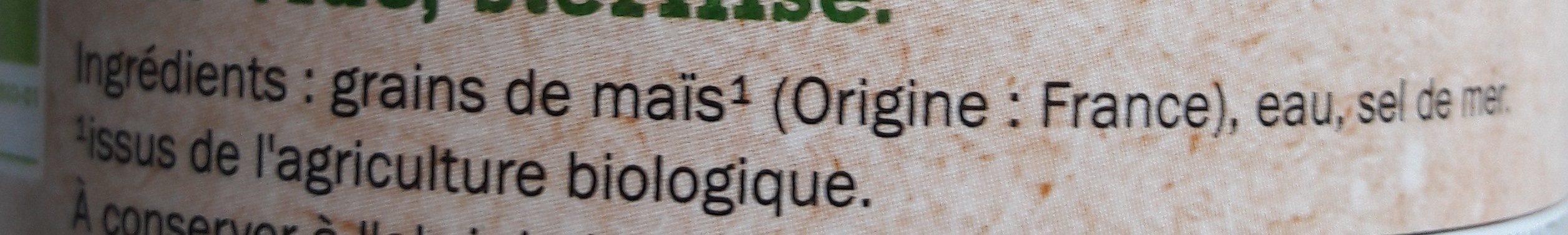 Maïs bio croquant - Ingrédients - fr
