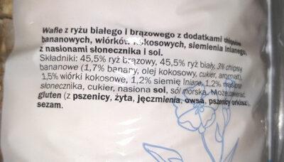 Wafle ryżowe musli - Składniki - pl