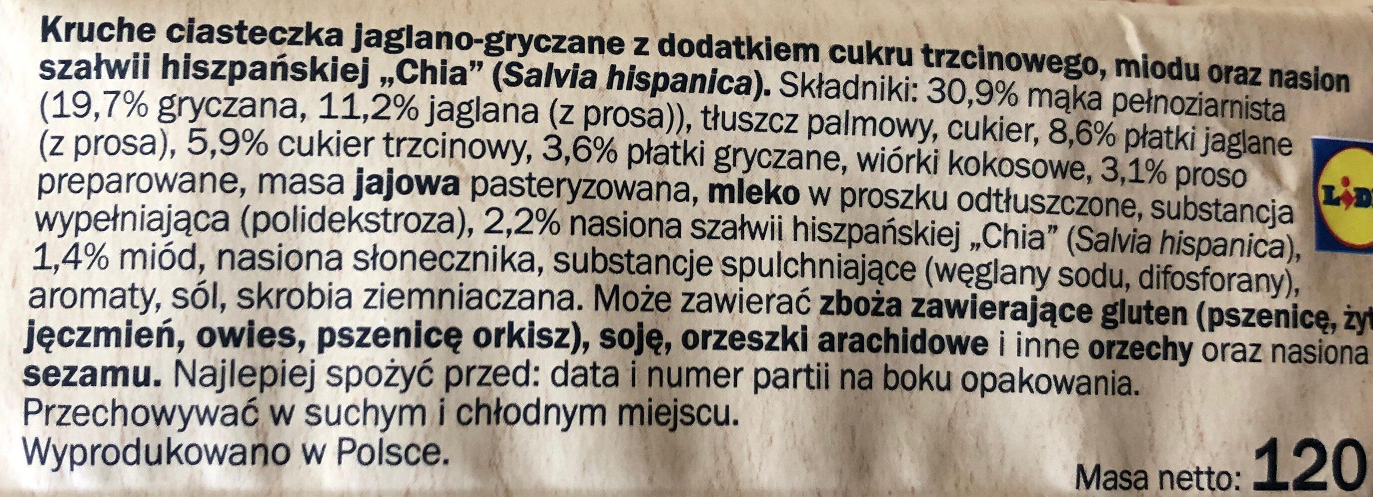 Ciasteczka jaglano-gryczane - Składniki - pl