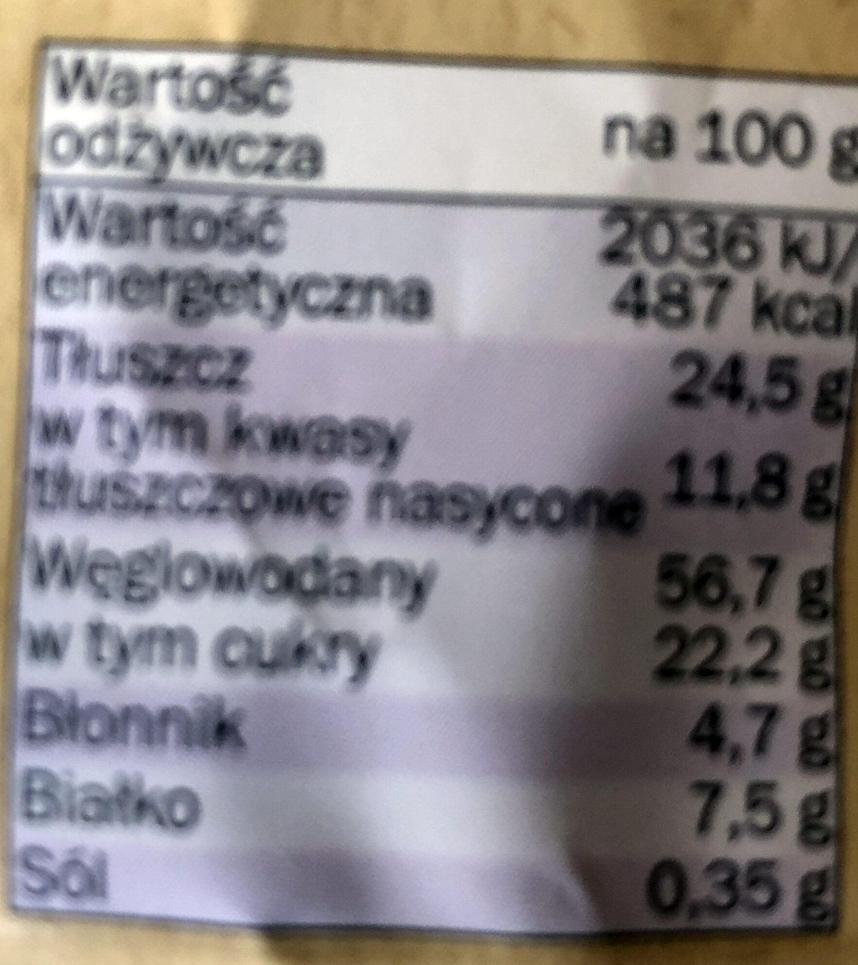 Ciasteczka jaglano-gryczane - Wartości odżywcze - pl