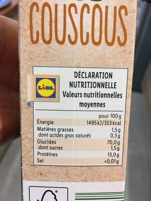 Bio organic - Couscous - Product - en