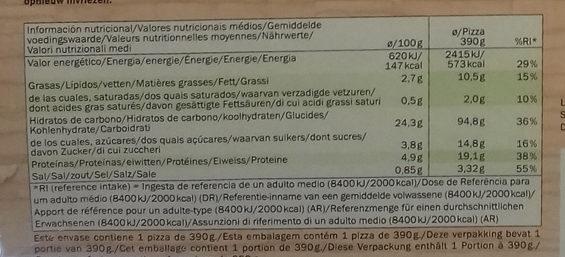 Pizza Deliziosa vegan verdura - Información nutricional - es