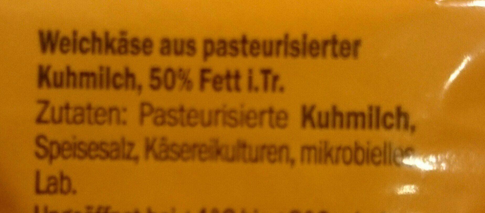 Le Cremeux Cremig-würzig - Ingrédients - de