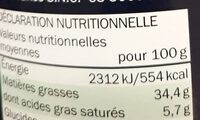 Nocciolata - Nutrition facts - nl