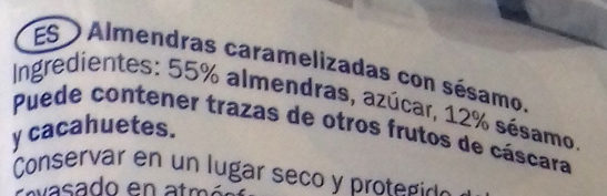 Caramelised Almonds with Sesame Seeds - Ingredientes