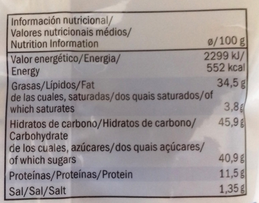 Caramelised Almonds with Sesame Seeds - Informació nutricional