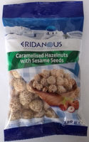 Caramelised hazelnuts with sesame seeds - Produit - es