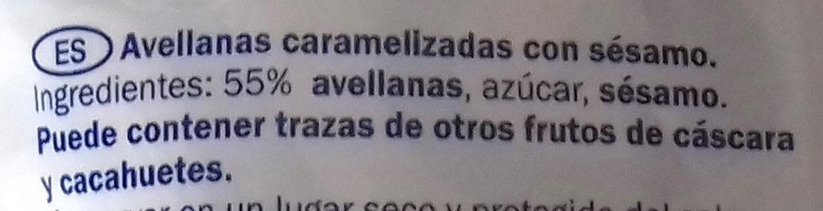 Caramelised hazelnuts with sesame seeds - Ingrédients - es
