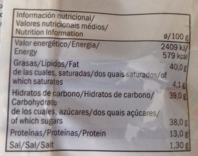 Caramelised hazelnuts with sesame seeds - Informations nutritionnelles