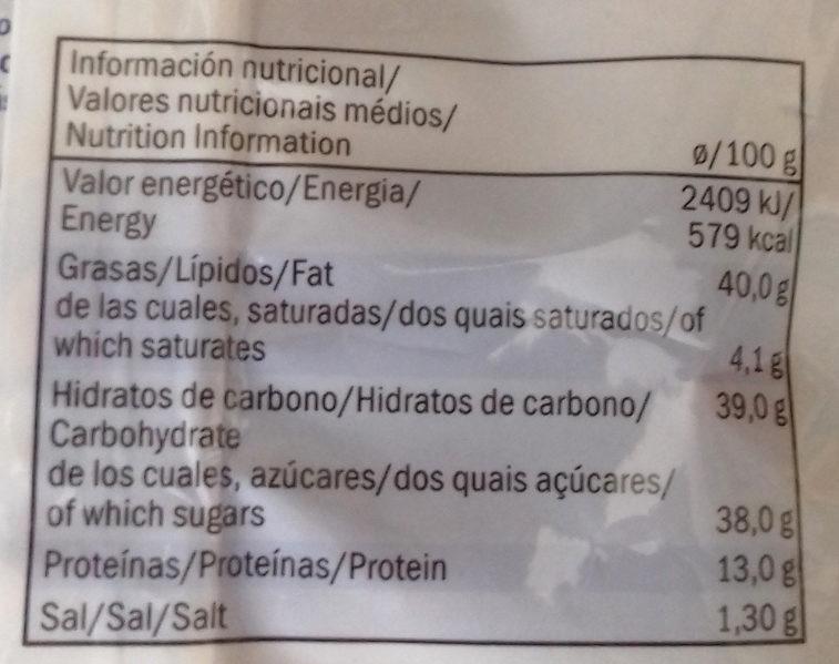 Caramelised hazelnuts with sesame seeds - Informations nutritionnelles - es
