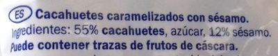 Caramelised Peanuts with Sesame Seeds - Ingredientes