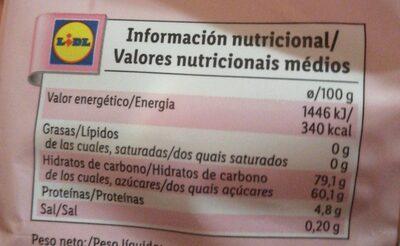 Hit mix - Informations nutritionnelles - es