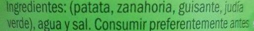 Macedonia de verduras - Ingredientes